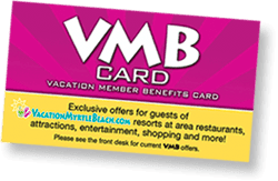 Vacation Member Benefits card
