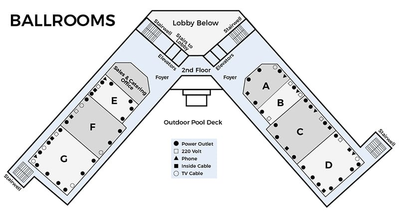 Beach Cove Resort North Myrtle Beach Ballrooms Diagram